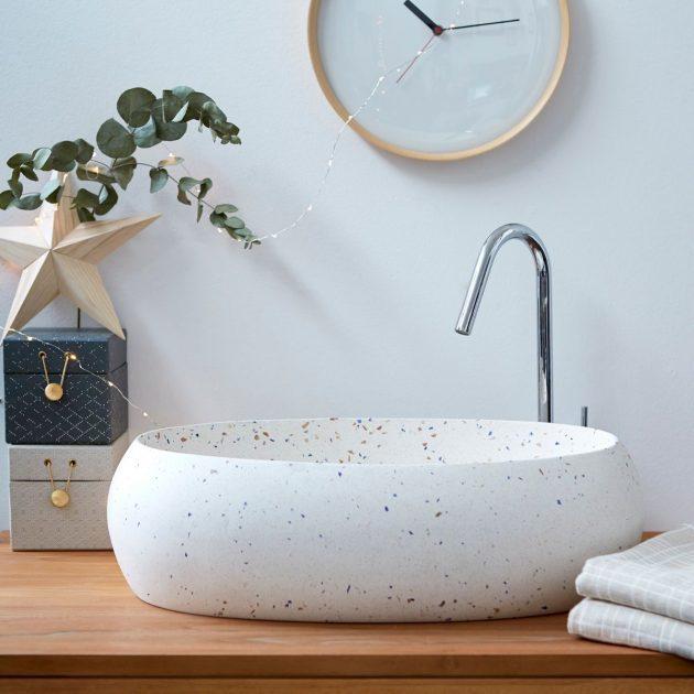 la tendance déco Terrazzo dans la salle de bain
