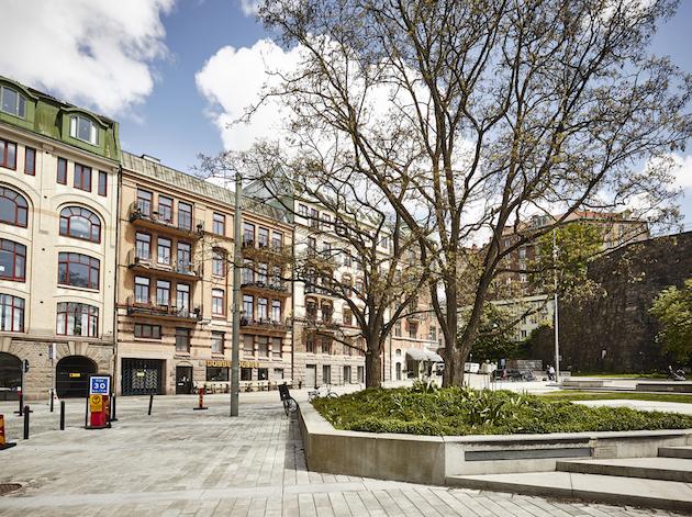 architecture place colorée retour à Göteborg