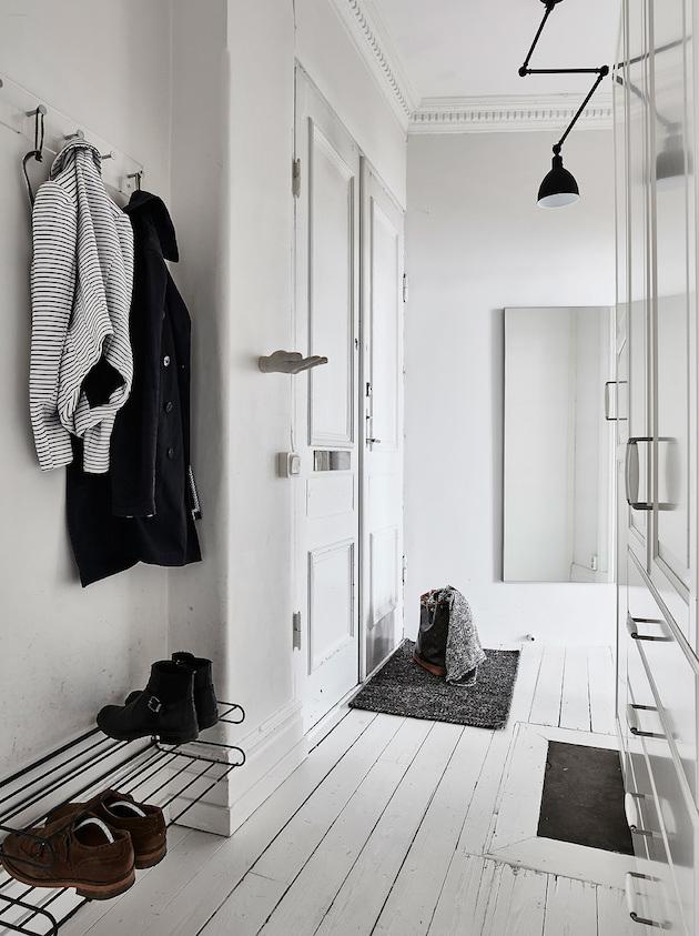 idée pour aménager une entré au style scandinave