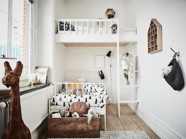 chambre enfant superposé design retour à Göteborg