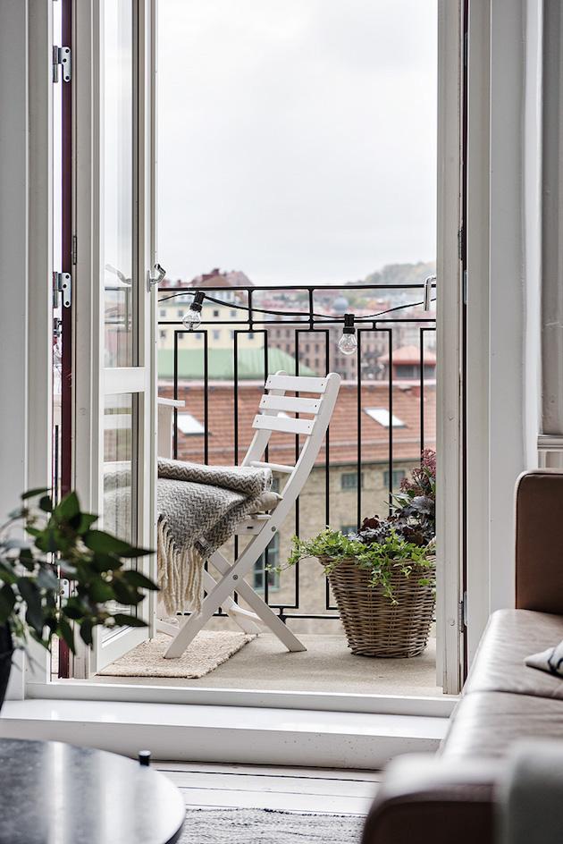 petit balcon deco minimalisme scandinave