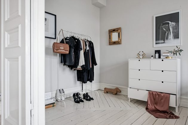 dressing penderie ouverte minimalisme scandinave