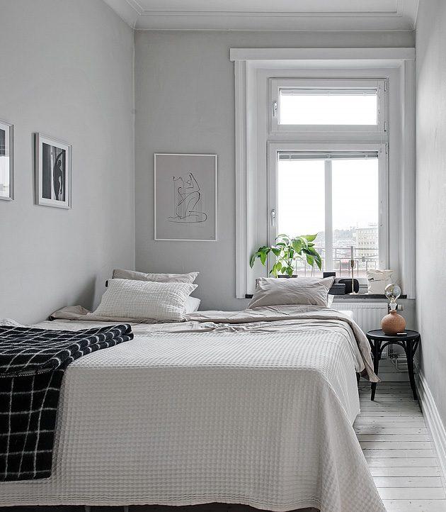 chambre blanche minimalisme scandinave