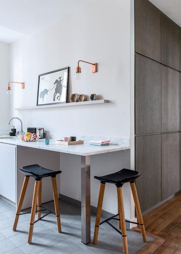 cuisine repas appartement haussmannien moderne