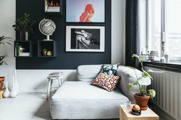 salon petit studio suédois hay