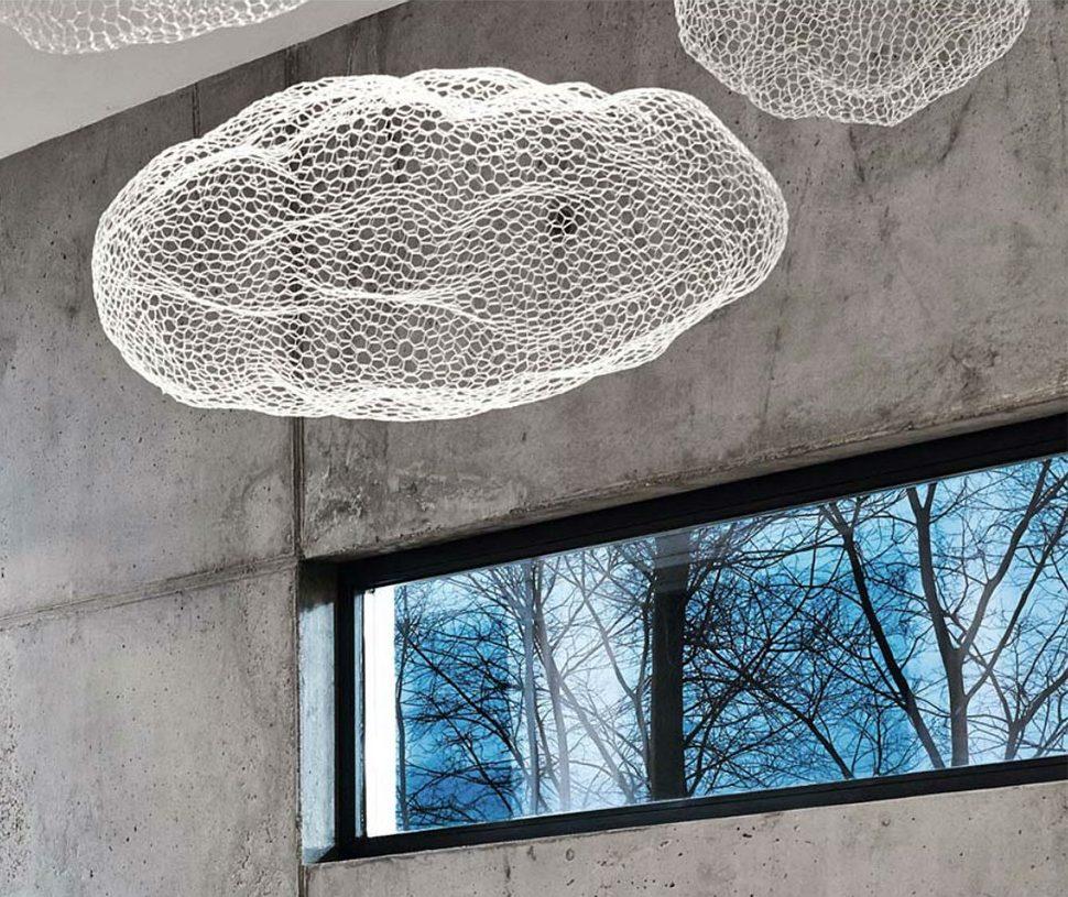 suspension decoration plafond sculpture forme de nuage