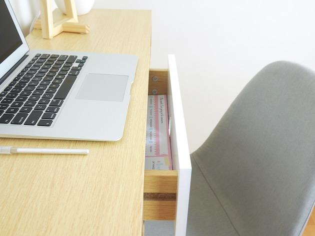 bureau macbook air deco minimaliste tiroir