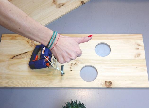DIY Fabriquer une étagère échelle matériel