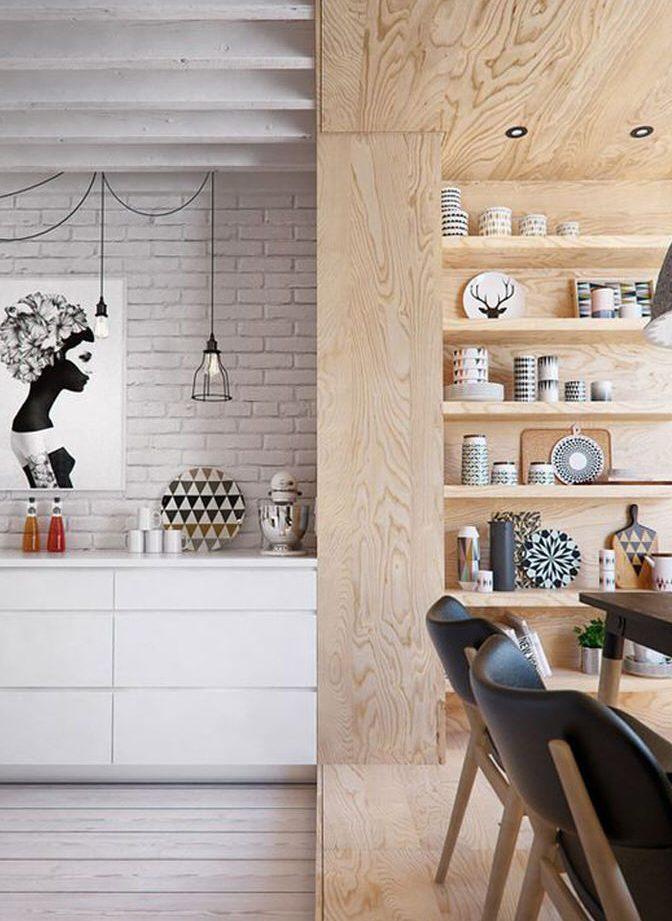tendance deco cuisine meuble en contreplaqué
