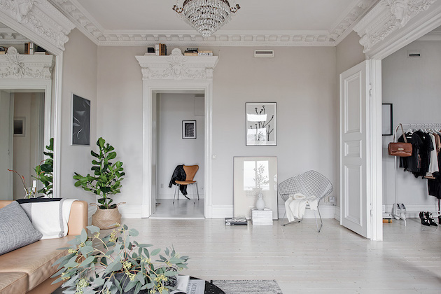 minimalisme scandinave chaise diamond parquet blanchi