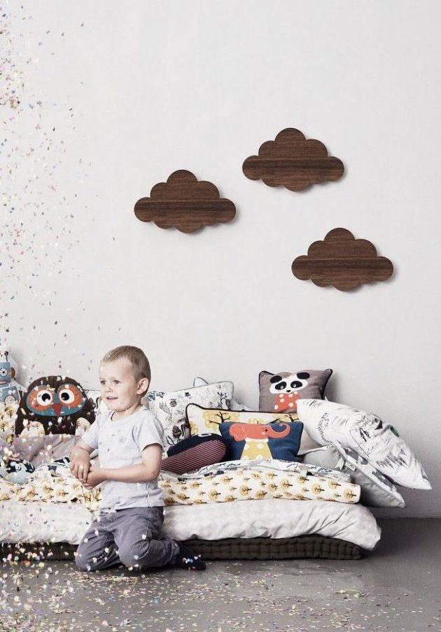 lampe nuage en bois chambre enfant ferm living