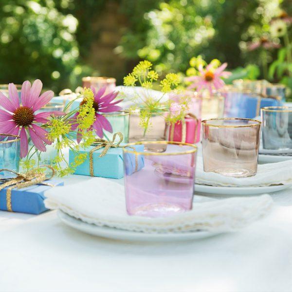 déco printemps table jardin extérieur décoration