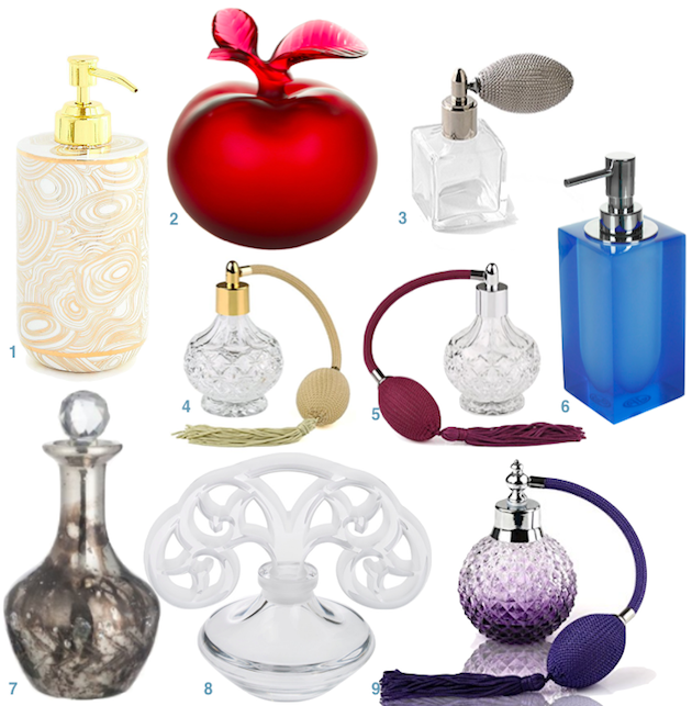 flacon parfum a poire vintage deco vide