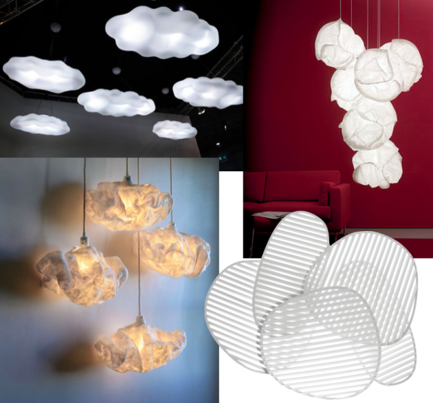 lampe nuage suspension aerienne decoration salon