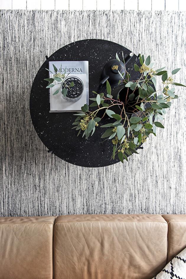 minimaliste scandinave vue de haut bouquet