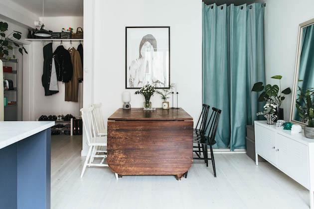 salon salle à manger petit studio aménagement