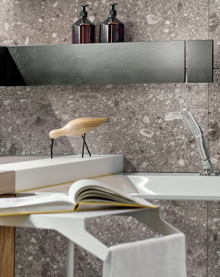 salle de bain grise terrazzo granito blog deco clem around the corner