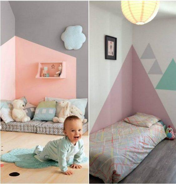 tete de lit en peinture maisonnette