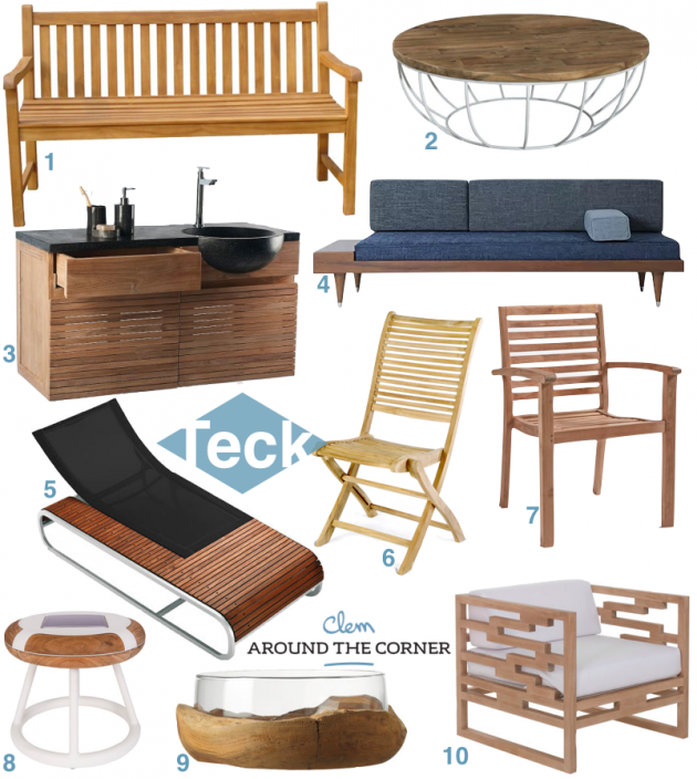 Conseils Entretien Table En Teck Et Deco De La Terrasse Clematc