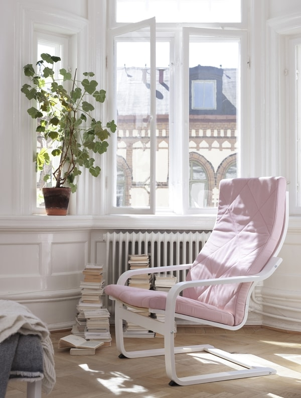 edition 40 ans fauteuil poang bascule rose ikea