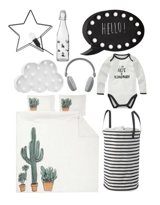 HEMA black white moderne simple