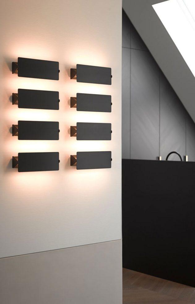 applique art deco minimaliste sous les toits