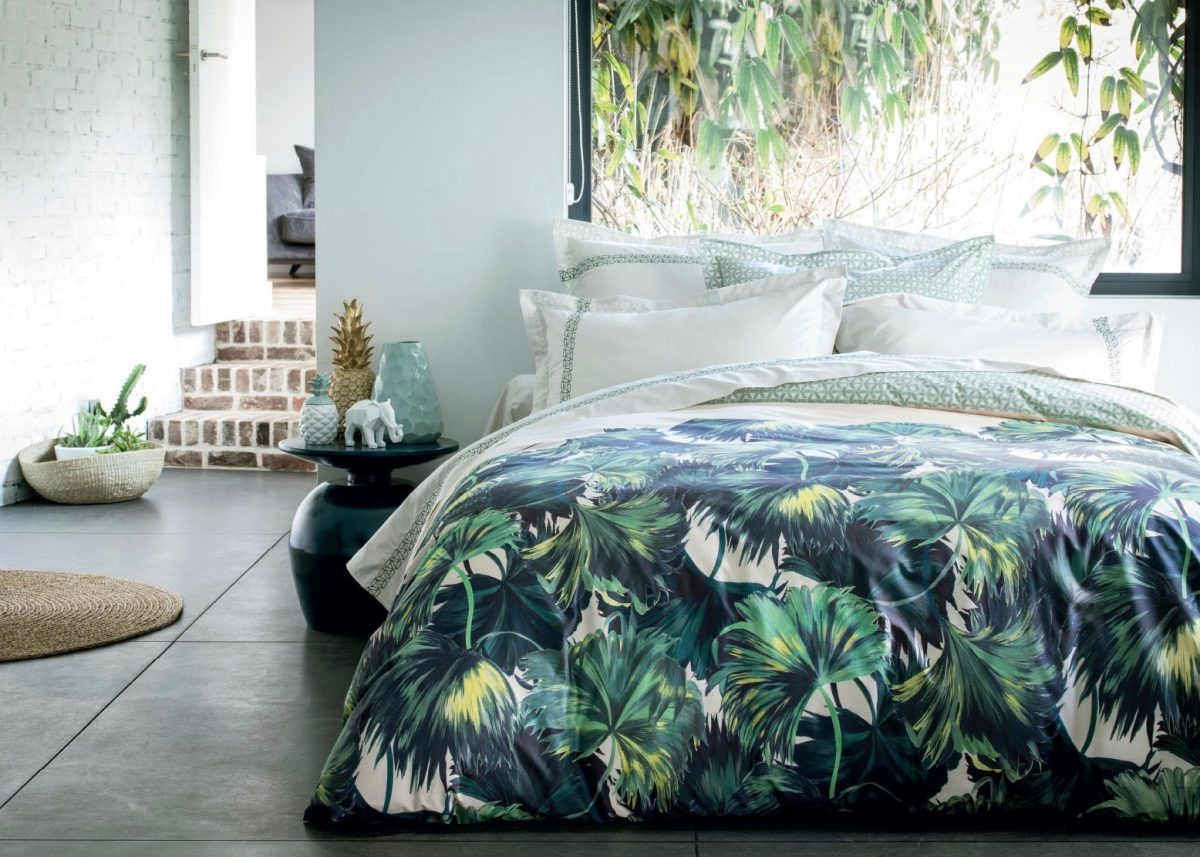 chambre tropicale ambiance urban jungle