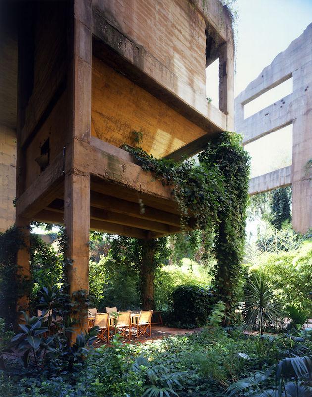 mur vegetal toit vert deconstruction usine