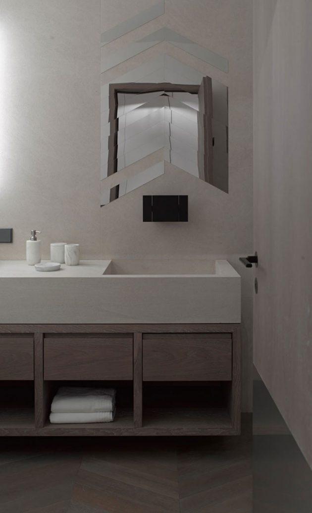 salle d'eau deco minimaliste sous les toits