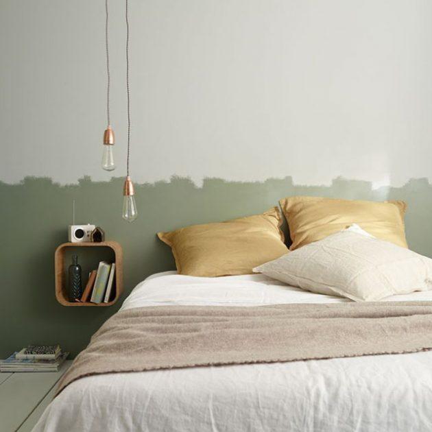 tete de lit en peinture diy effet coup de pinceaux