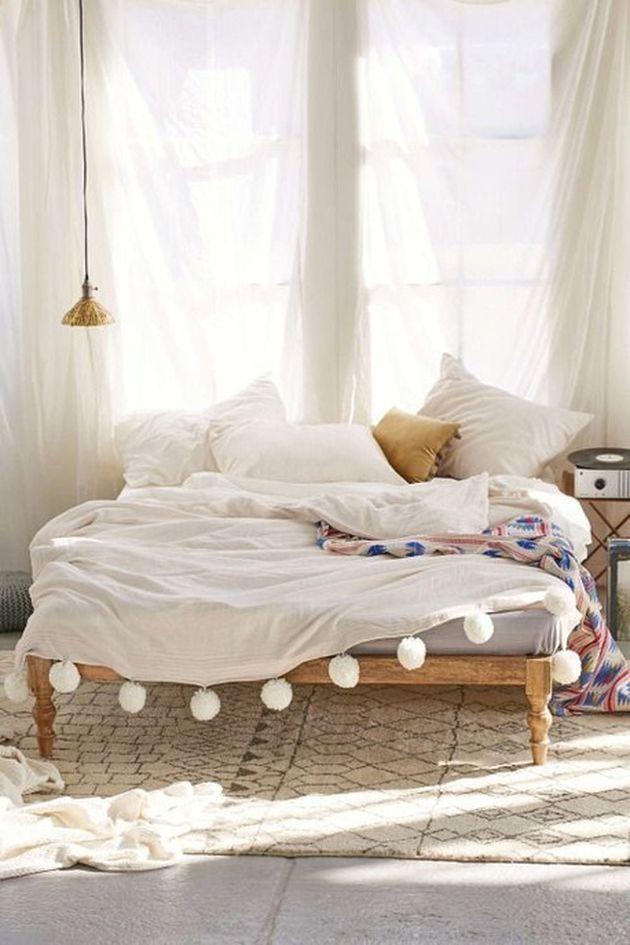 décoration bohème soft chambre adultes