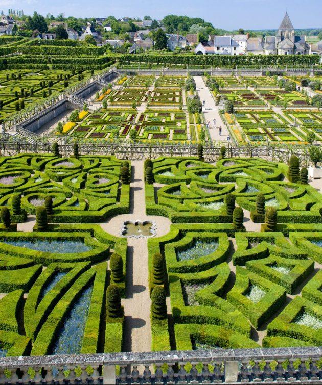 Château de Villandry idee jardiniere decoration
