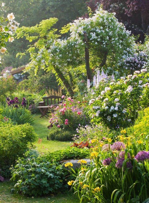 comment créer un jardin style anglais