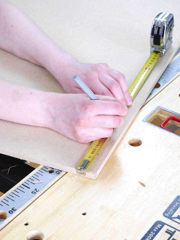 mesurer bois fabriquer en palettes