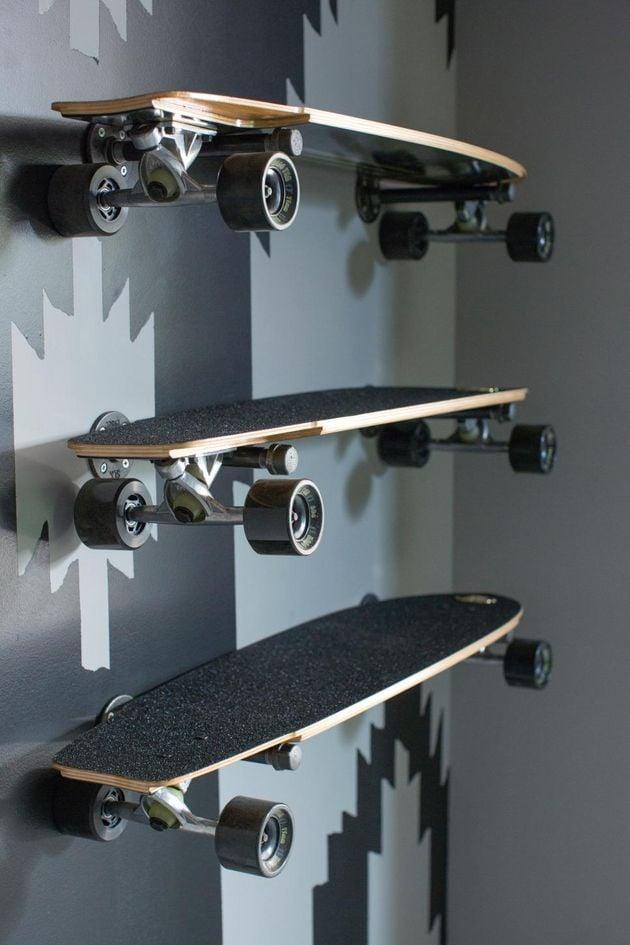 skateboard chambre masculine