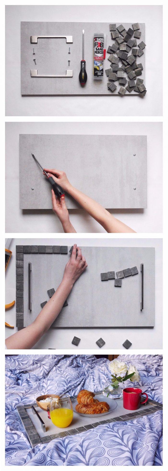 DIY recup upcylcing detourner meuble de cuisine plateau clemaroundthecorner.com
