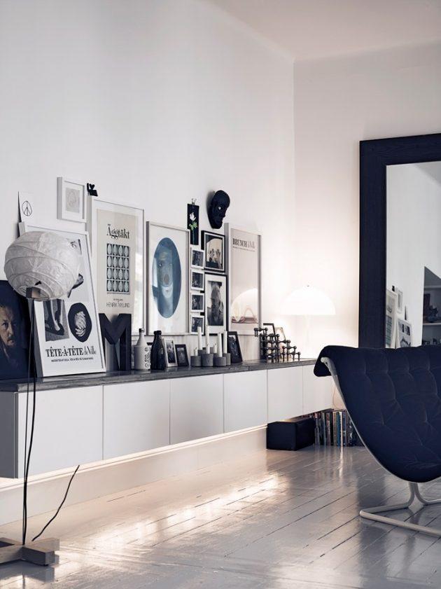 lumas photo mur de cadre noir et blanc salon