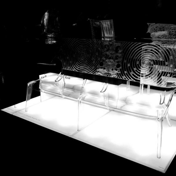 creation banc george nuku plastique contraste