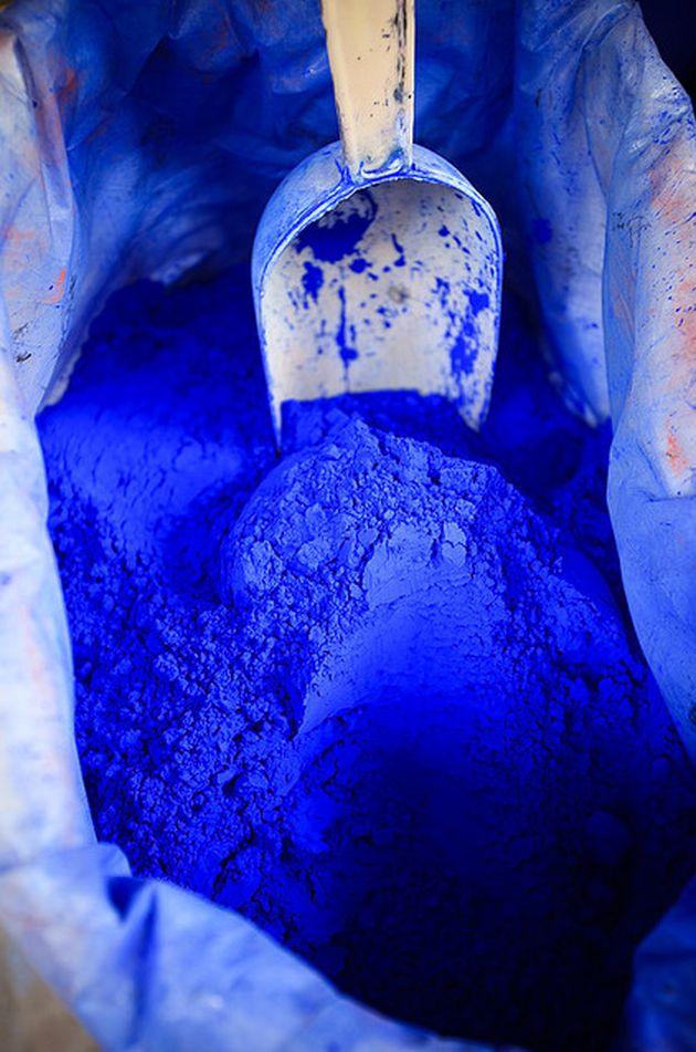 pigment poudre bleu indigo