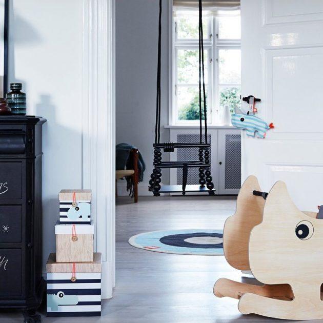 Ventes privées Smallable deco enfant chambre bleu bois noir