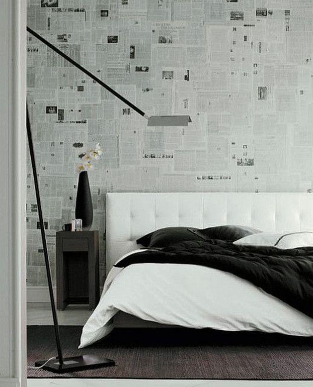 chambre masculine tete de lit en cuir