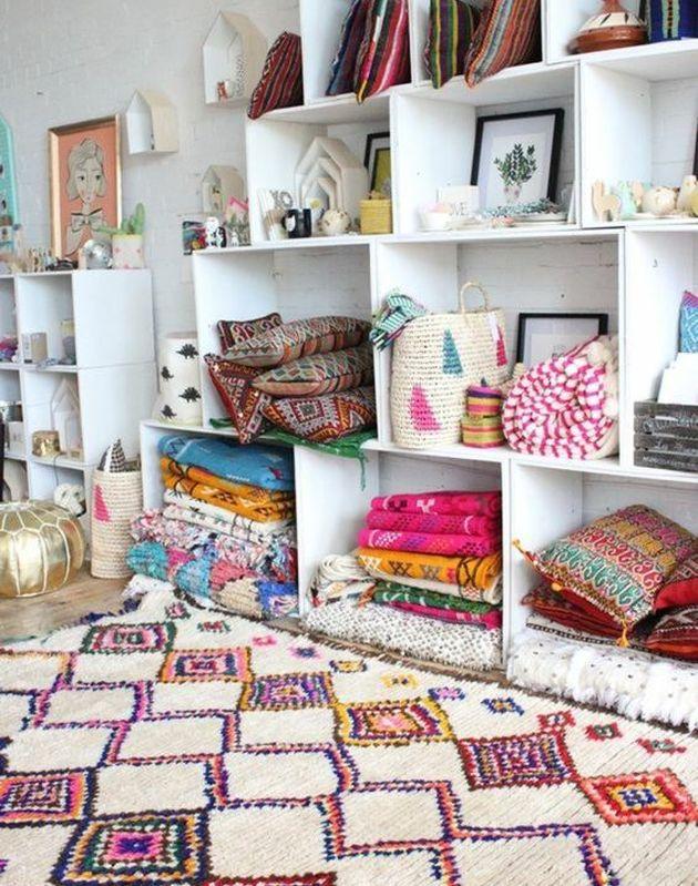 tapis décoration bohème couleur