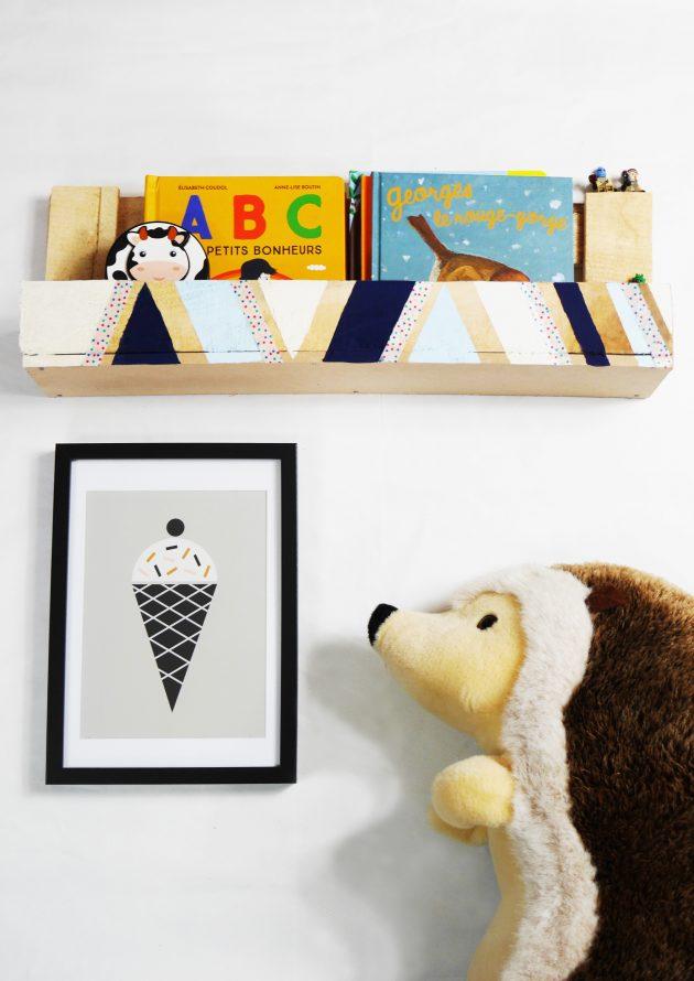 fabriquer avec des palettes meuble chambre enfant