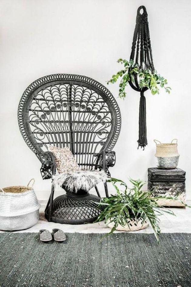 décoration bohème fauteuil emmanuelle