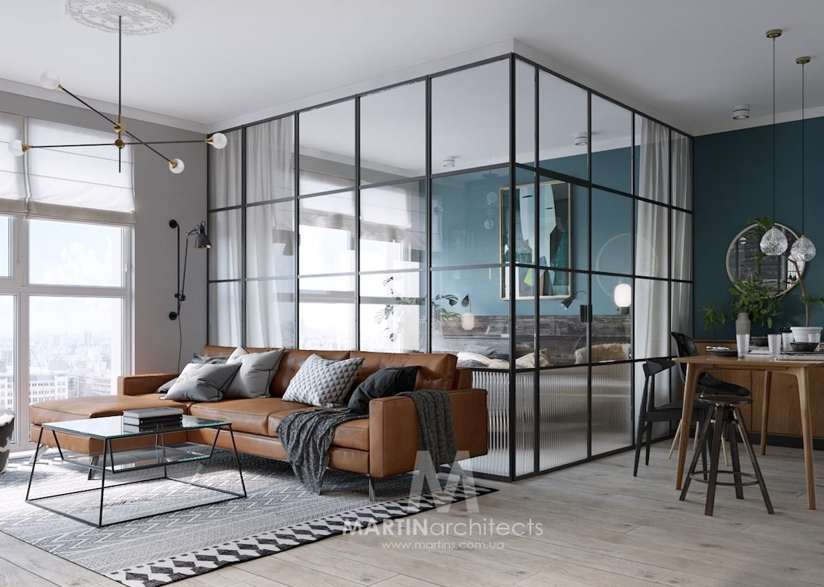 Mur bleu canard et style loft blog d co clem around the corner - Penthouse ac du square one studio ...