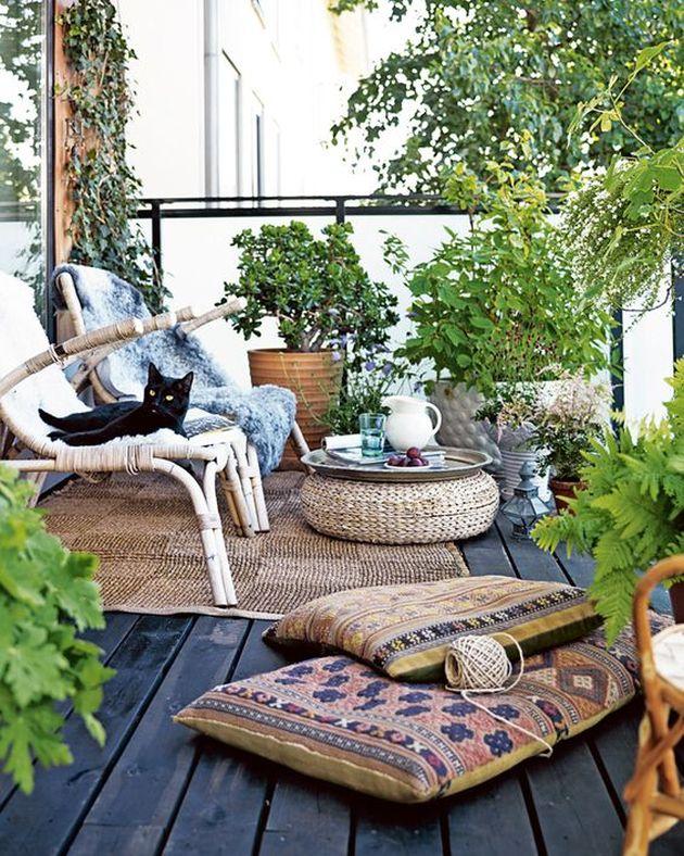 décoration bohème terrasse naturelle