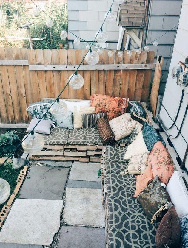 décoration bohème soft terrasse