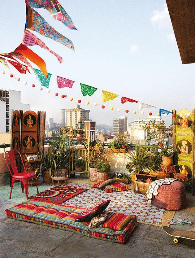 terrasse colore pour décoration bohème