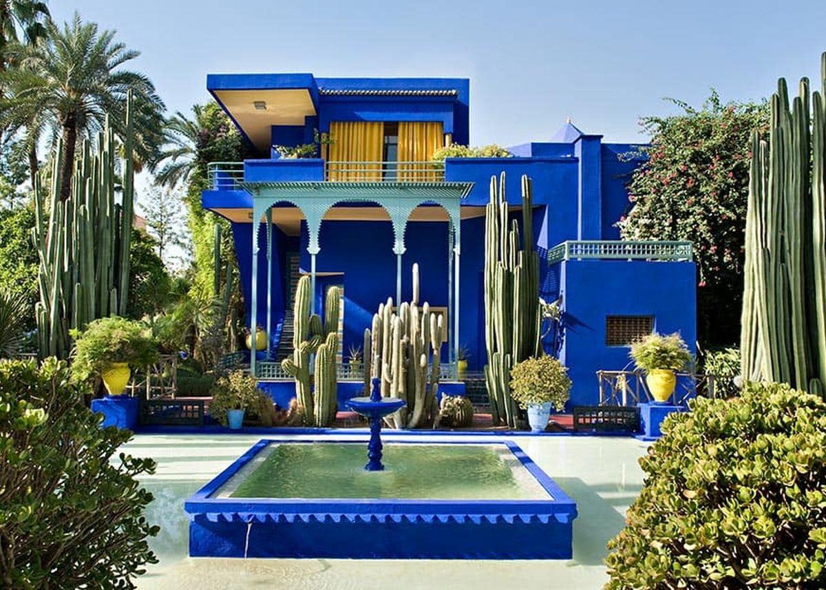 bleu indigo architecture bleu majorelle villa marrakech
