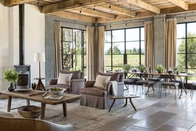 deco maison de campagne moderne séjour